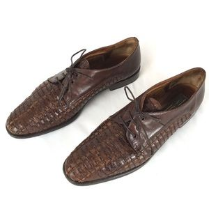 Sesto Meucci Brown Leather Woven Casual
